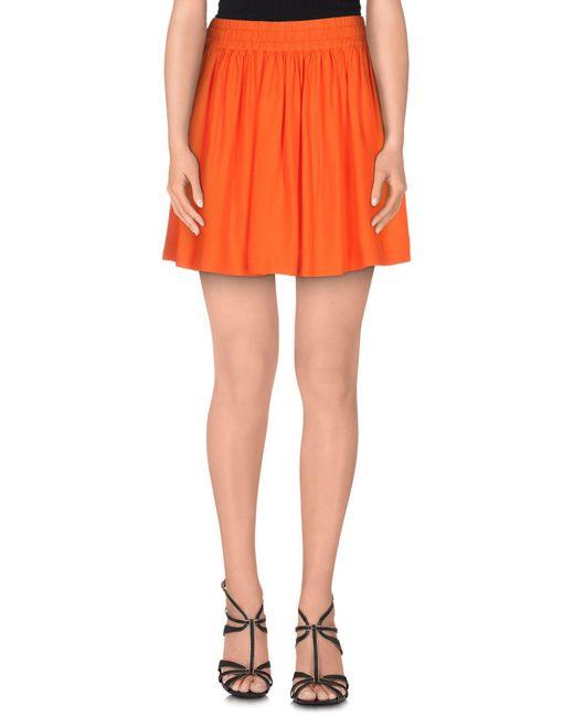 RED Valentino - Orange Mini Skirt - Lyst