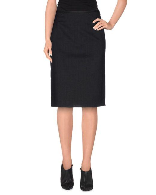 Armani - Blue Knee Length Skirt - Lyst