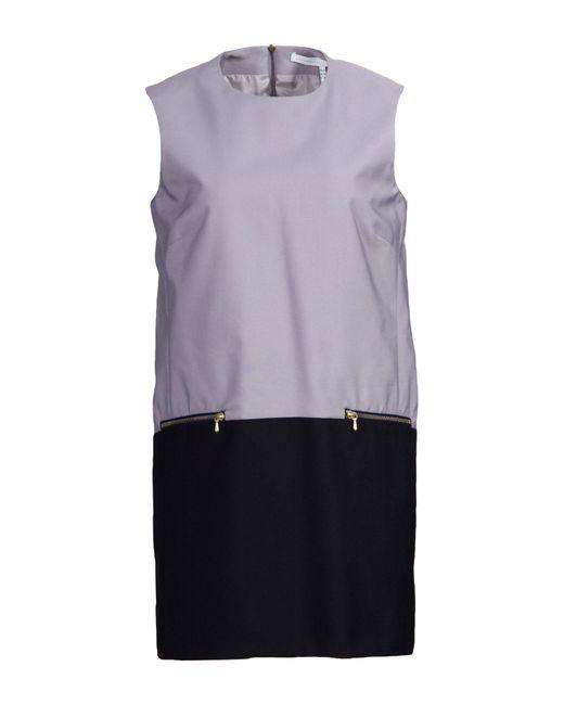 Victoria, Victoria Beckham - Purple Short Dress - Lyst