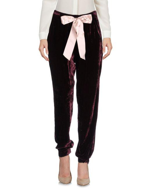 Pinko - Black Casual Pants - Lyst