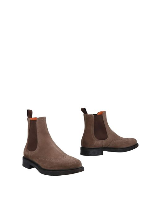 Santoni - Brown Ankle Boots for Men - Lyst