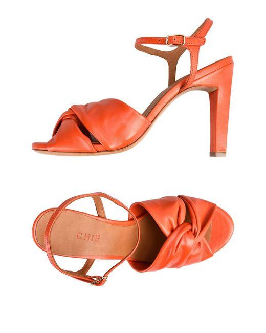 Chie Mihara - Orange Sandals - Lyst