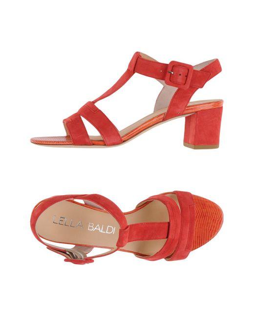 Lella Baldi | Red Sandals | Lyst