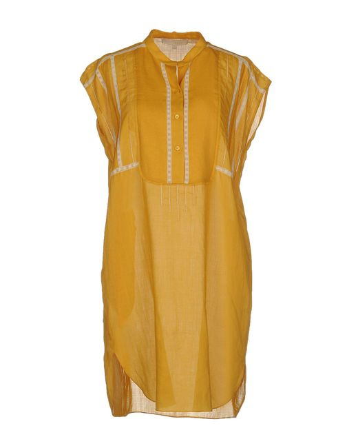 Vanessa Bruno | Yellow Short Dress | Lyst