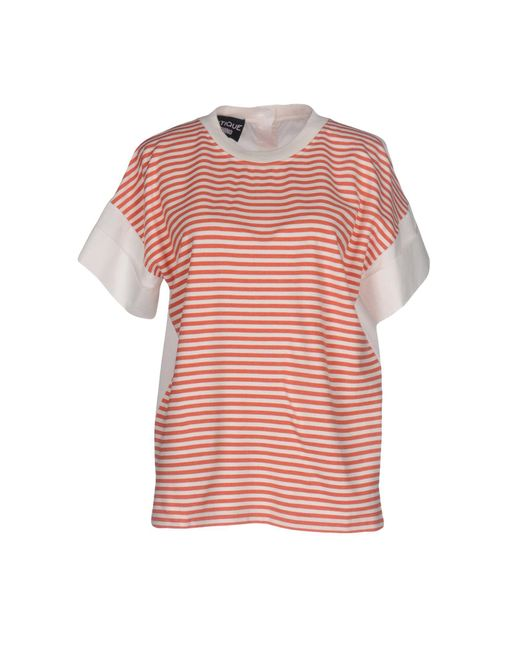 Boutique Moschino - Red T-shirt - Lyst