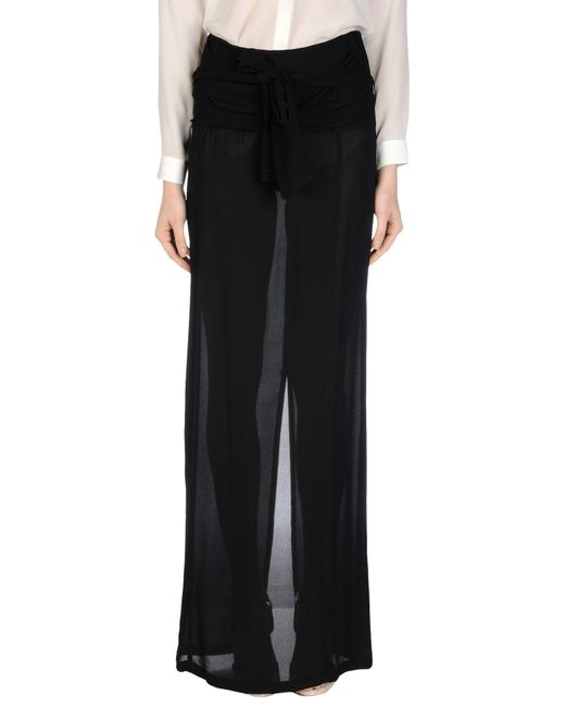 Ann Demeulemeester | Black Long Skirt | Lyst