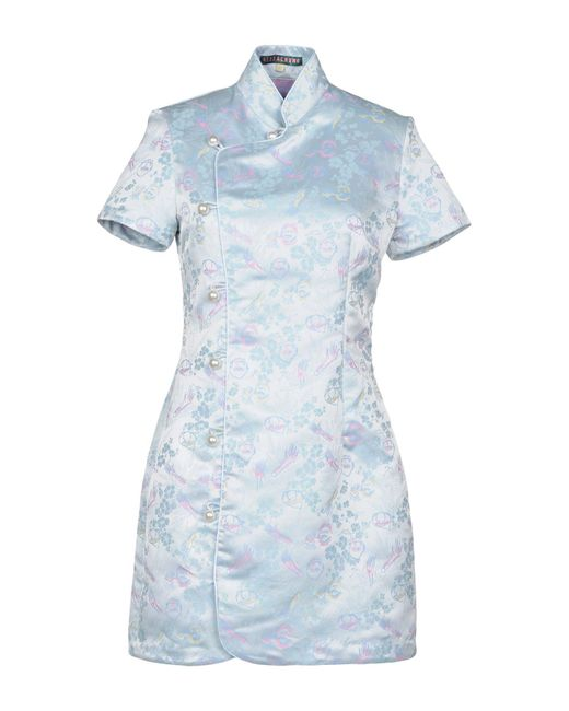 AlexaChung - Blue Short Dress - Lyst