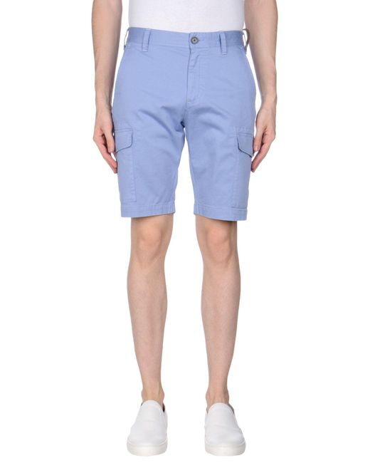 AT.P.CO - Blue Bermuda Shorts for Men - Lyst