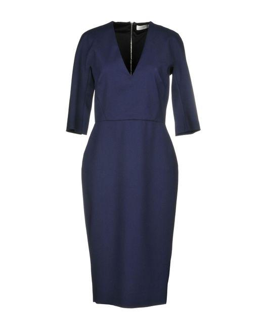 Victoria Beckham - Blue 3/4 Length Dress - Lyst