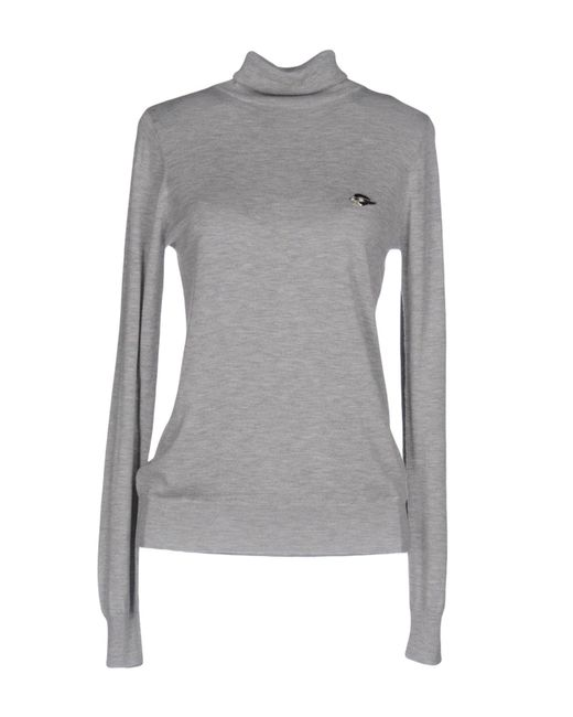 Love Moschino - Gray Turtleneck - Lyst