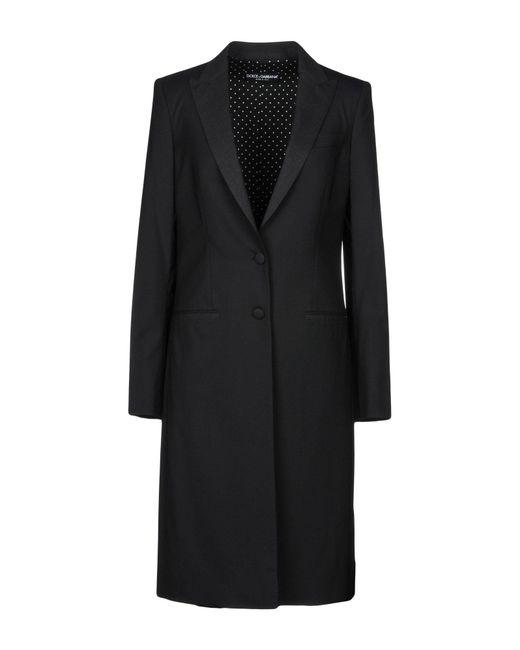 Dolce & Gabbana - Black Overcoat - Lyst
