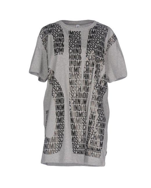 Moschino - Gray T-shirts - Lyst