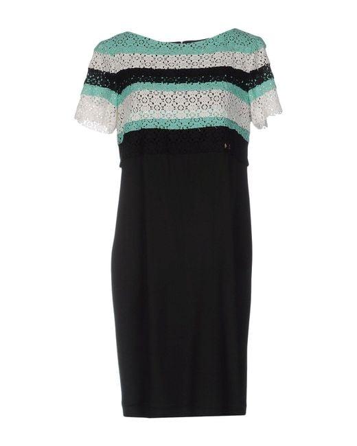 Class Roberto Cavalli | Black Short Dress | Lyst