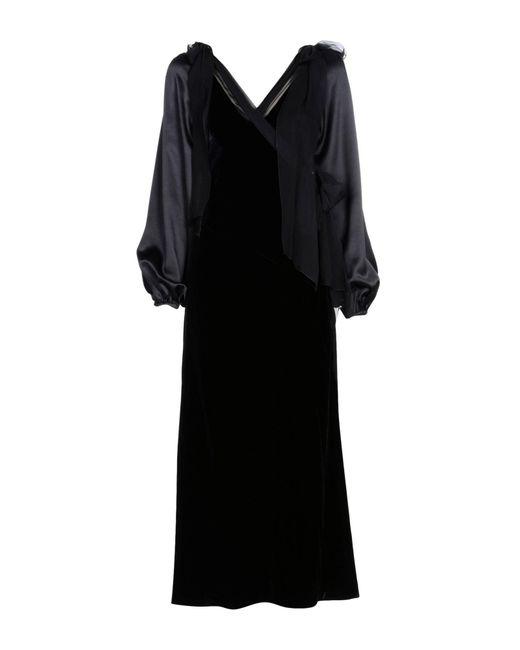 Alberta Ferretti - Black Long Dresses - Lyst
