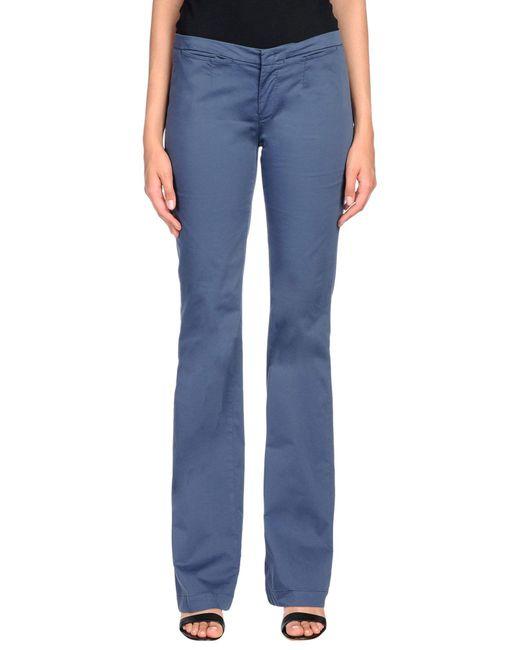 PT01 - Blue Casual Pants - Lyst