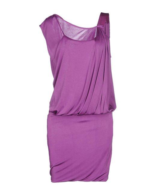 Pinko - Purple Short Dress - Lyst
