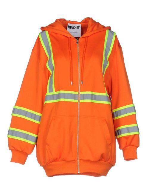 Moschino - Orange Sweatshirt - Lyst