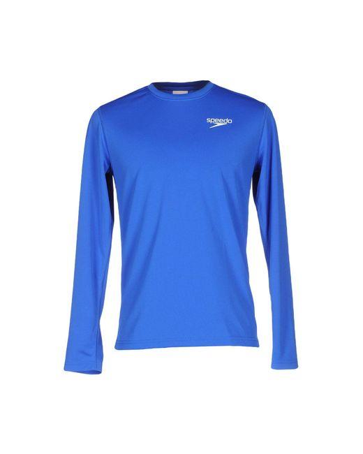 Speedo - Blue T-shirt for Men - Lyst