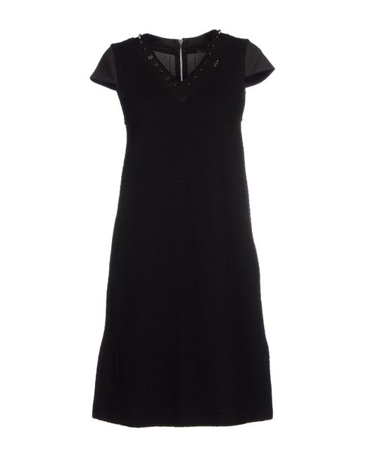 GAUDI - Black Short Dress - Lyst