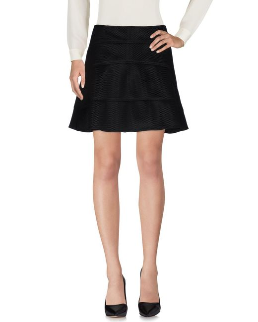 Belstaff - Black Knee Length Skirt - Lyst