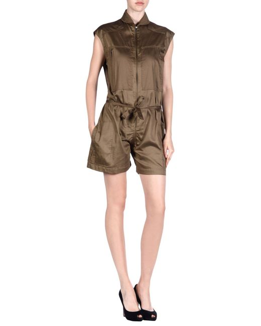 Isabel Marant - Green Shortalls - Lyst