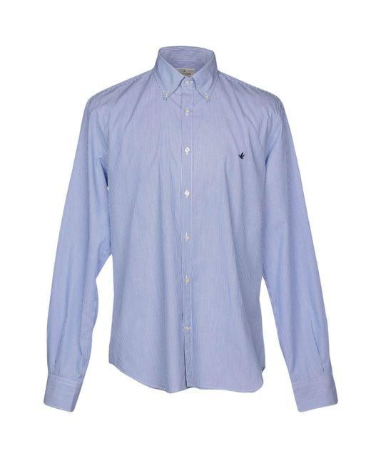 Brooksfield - Blue Shirt for Men - Lyst