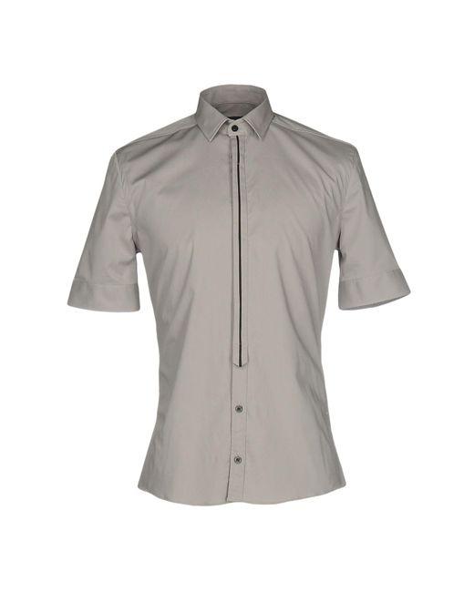 Les Hommes - Gray Shirt for Men - Lyst