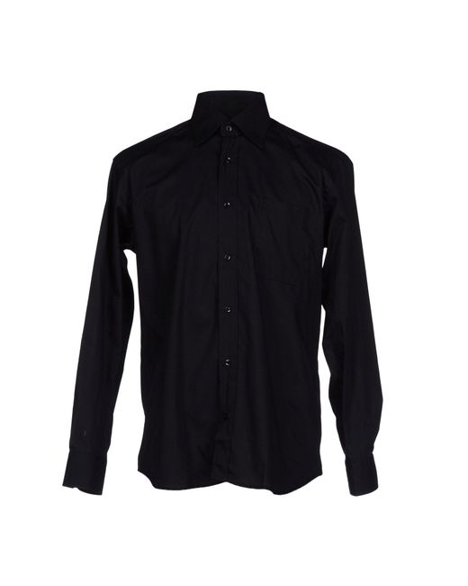 Rocco Barocco - Black Shirt for Men - Lyst