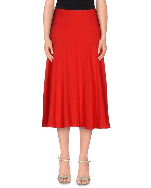 Frankie Morello - Red 3/4 Length Skirt - Lyst
