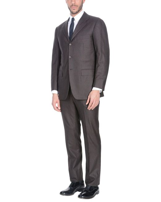 Kiton - Brown Suits for Men - Lyst