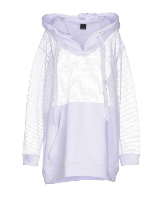 Pinko - White Sweatshirt - Lyst