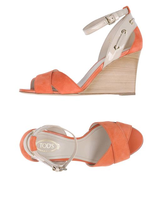 Tod's - Pink Sandals - Lyst