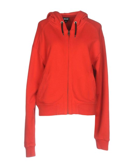 Just Cavalli - Red Sweatshirt - Lyst