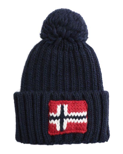 fd1829eb9ce Napapijri Semiury Bobble Hat in Blue for Men - Save 29% - Lyst