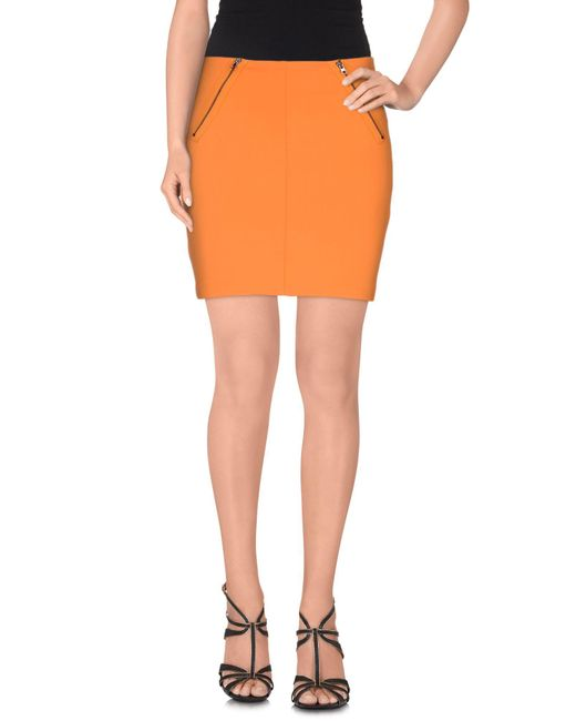 INTROPIA - Orange Mini Skirt - Lyst