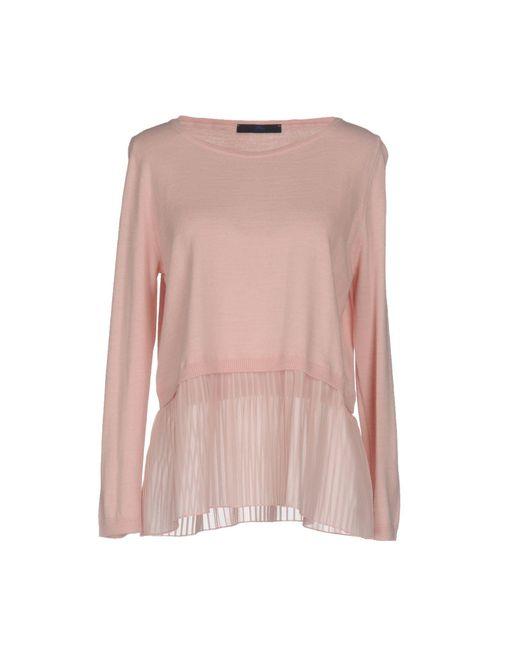 Blue Les Copains - Pink Sweater - Lyst