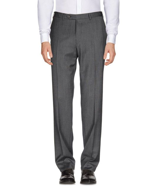 Canali Gray Casual Pants for men