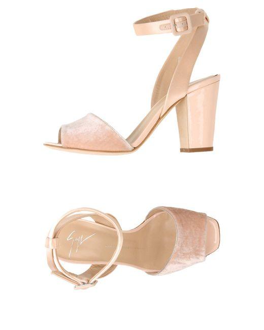 Giuseppe Zanotti - Pink Sandals - Lyst