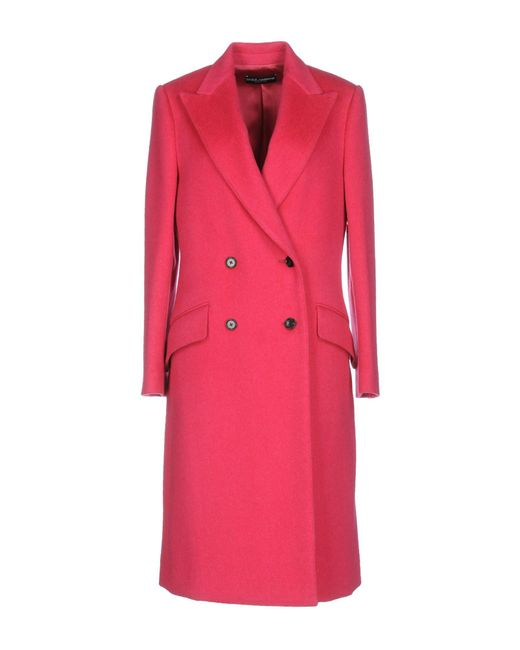 Dolce & Gabbana - Pink Coats - Lyst