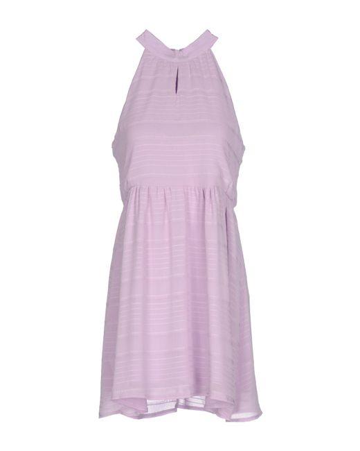 Cutie - Purple Short Dress - Lyst