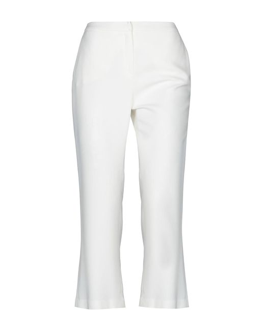 Betty Blue - White 3/4-length Trousers - Lyst