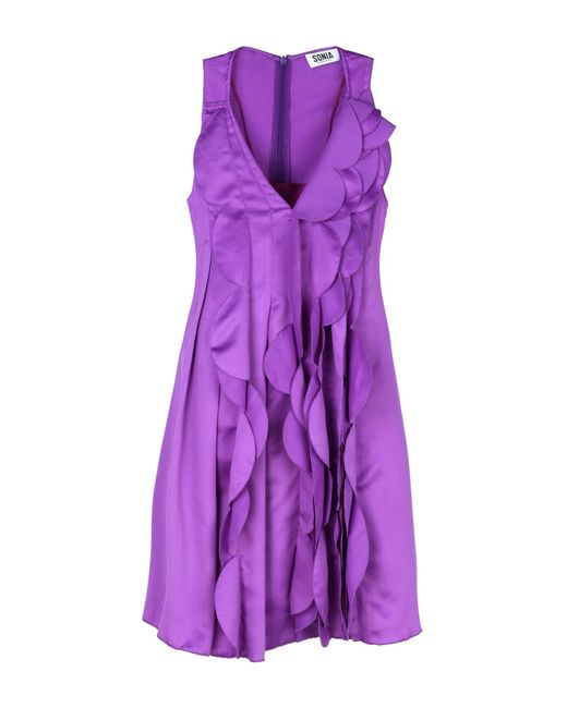 Sonia by Sonia Rykiel | Purple Short Dress | Lyst