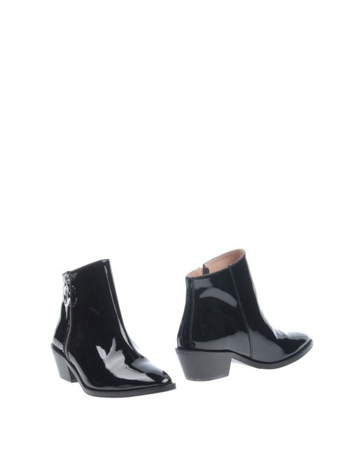 Boutique Moschino - Black Ankle Boots - Lyst