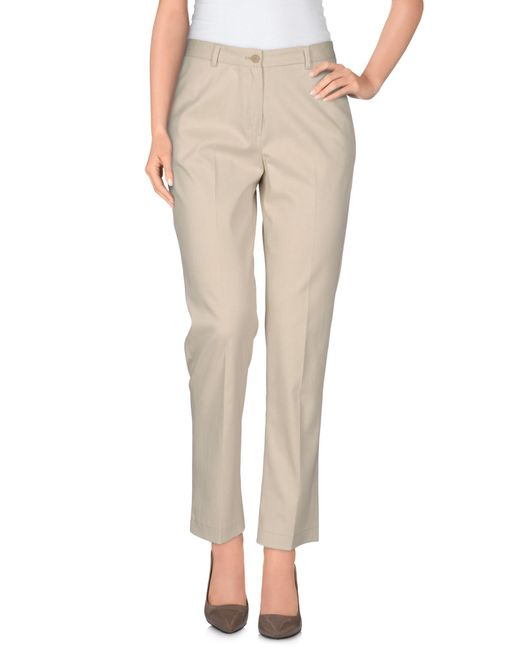 Laura Urbinati - Natural Casual Trouser - Lyst