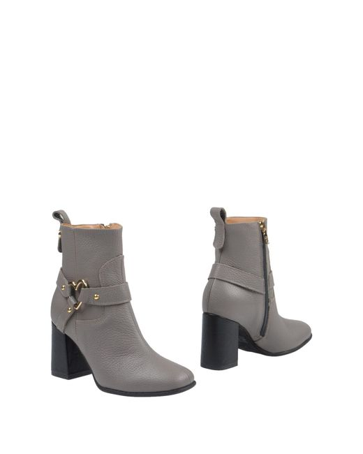 Love Moschino - Gray Ankle Boots - Lyst