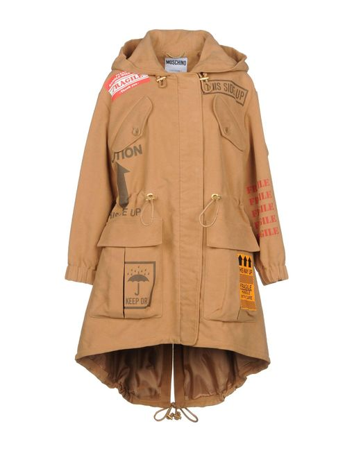 Moschino - Natural Coat - Lyst