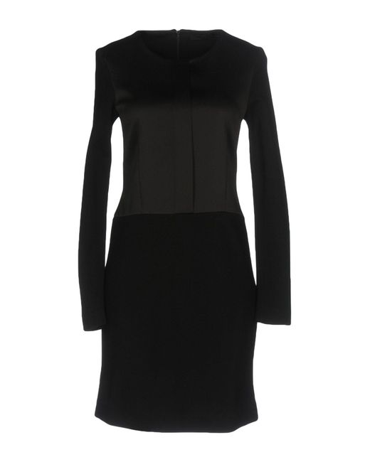 Karl Lagerfeld - Black Short Dress - Lyst