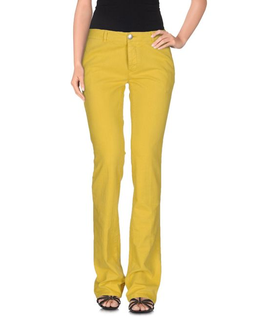 Mauro Grifoni - Yellow Denim Pants - Lyst