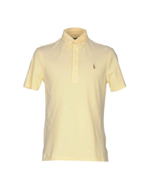 Ralph Lauren - Yellow Polo Shirt for Men - Lyst