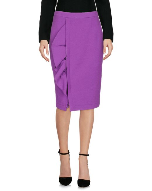 Boutique Moschino - Purple Knee Length Skirt - Lyst